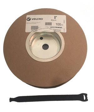 Velcro 20 cm Rip-Tie - Roll with 100 pcs