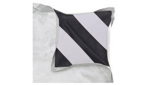 White / Black Fabric