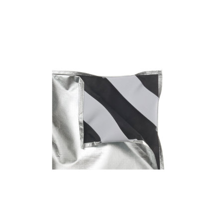 Silver / Black Fabric