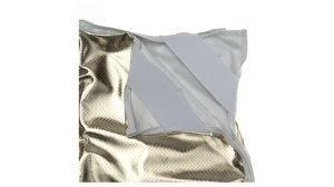 Zebra Silver Gold / White Fabric