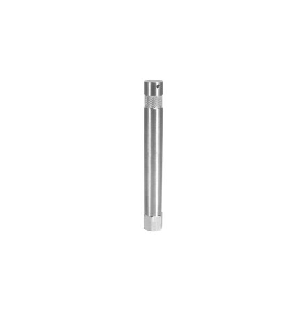 6 in. Aluminum Baby Pin with 3/8 in. Female Thread