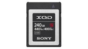 Memory Card XQD G-series, 240GB R440/W400 MB/s