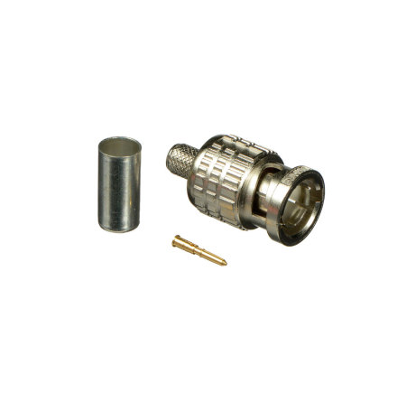 BNC Crimp Plug 75 Ohm BCP-A4 (for LV-61S, RG59B/u), 100pcs