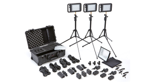 Litepanels Lykos+ BiColor Flight Kit with Battery Bundle EU