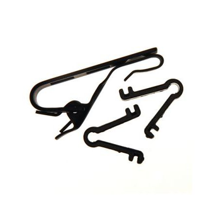 Clip MZQ02 for lavalier microphone black