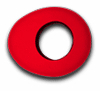 Oval Large - Red MicroFiber - Bluestar