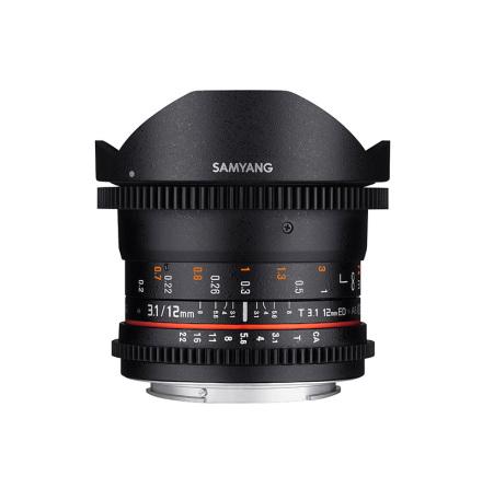 Samyang 12mm Fisheye T3,1 VDSLR (FULLFORMAT) - EF