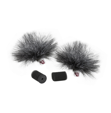 Gray Ristretto Lavalier Windjammer Pair - Rycote