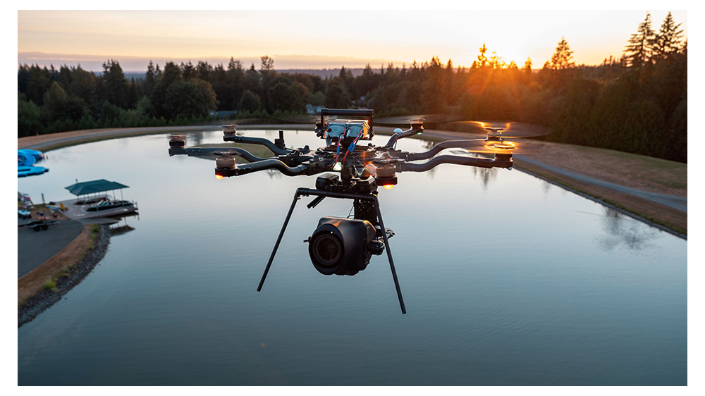 MoVI Carbon Drone Mounted
